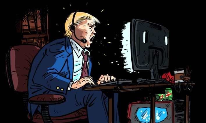 Трамп так не хочет покидать Белый дом, что запустил трансляцию в Twitch!