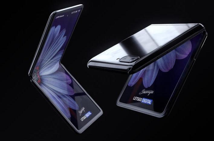 Как выглядит новый гибкий смартфон Samsung?