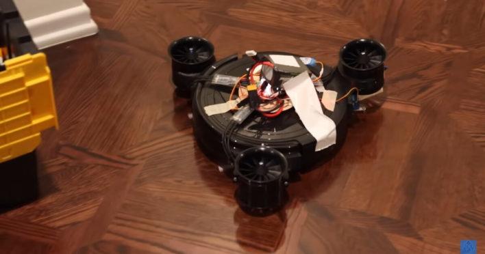Инженеры «научили» робот-пылесос летать!