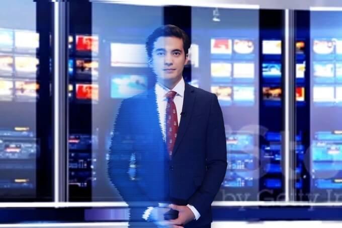 Виртуальный ведущий начал работу на казахском ТВ