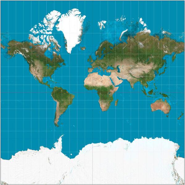 Появилась новая карта Земли. Она выглядит совершенно иначе
