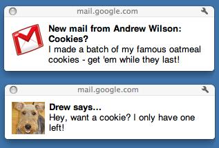 Новые системные уведомления Gmail