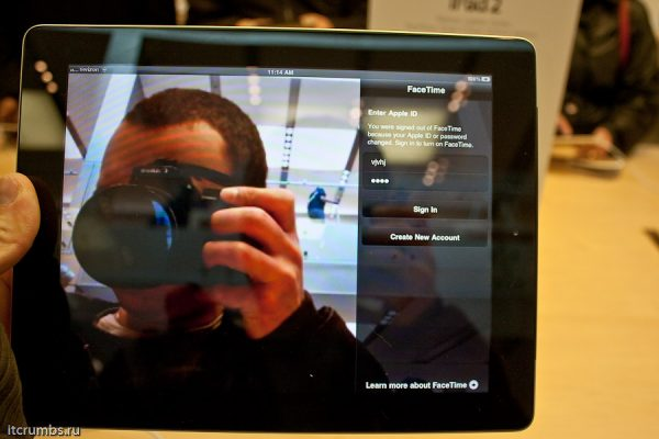iPad2 камера