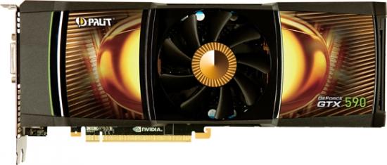 Palit представляет мощную двухъядерную видеокарту Palit GeForce GTX 590