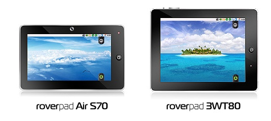 Планшеты RoverPad Air S70 и RoverPad 3WF80 доступны для предзаказа