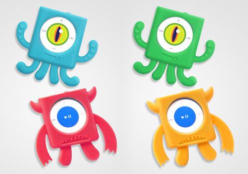 Силиконовые чехлы Mix Monsters для iPod