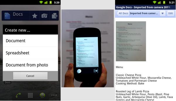 Google выпускает приложение Google Docs для Android-фонов