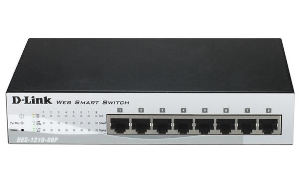 D-Link представляет новый коммутатор серии Web Smart DES-1210-08P