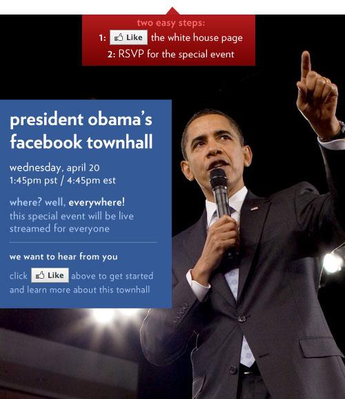 Обама проведет онлайн чат с американцами в Facebook