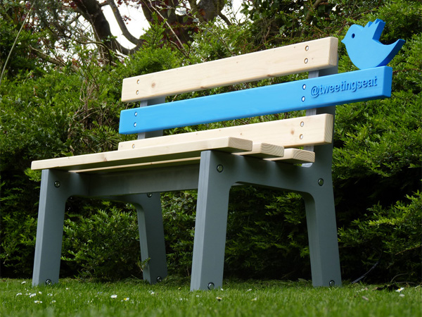 Tweetingseat – скамейка, подключенная к Твиттеру