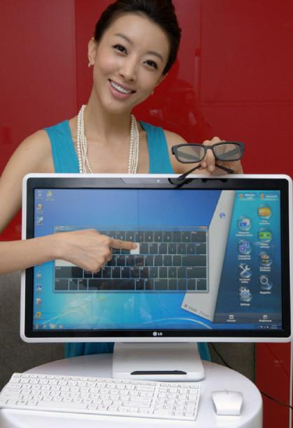 LG представляет компьютер с трехмерным сенсорным экраном