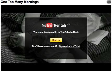 youtube rentals