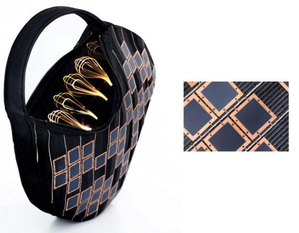 Разработчики – датская компания Diffus – представила высокотехнологичную сумку Solar Handbag.