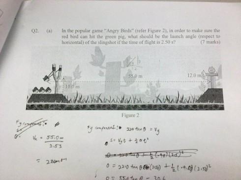 Angry Birds на уроке физики