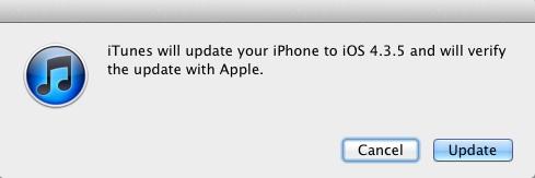 Вышло обновление iOS 4.3.5