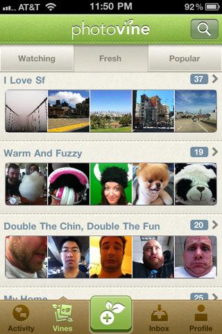 Приложение Photovine доступно в App Store