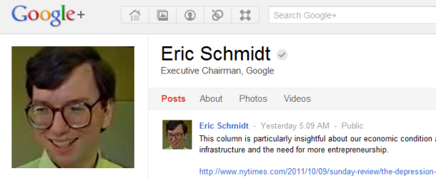 эрик шмидт на google+
