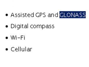 глонасс в iphone