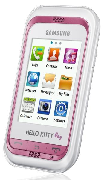 Телефон Samsung в стилистике Китти