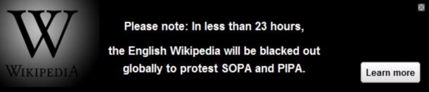 Википедия закроется 18го января