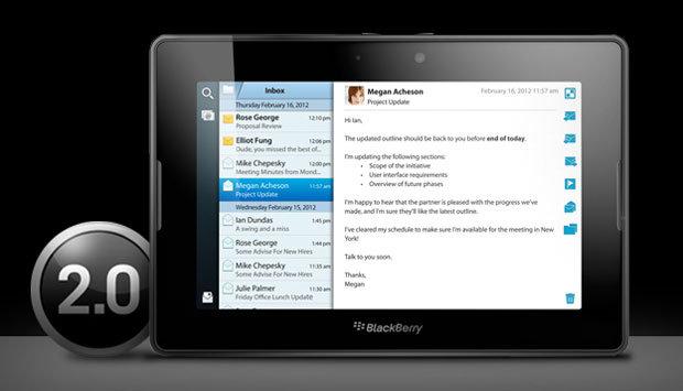 Планшет PlayBook от RIM получил обновление ОС