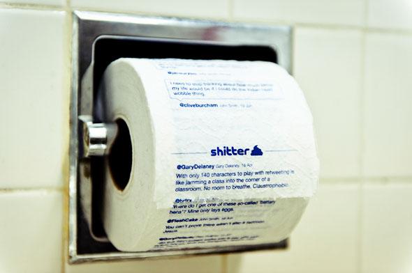 Твиты на туалетной бумаге