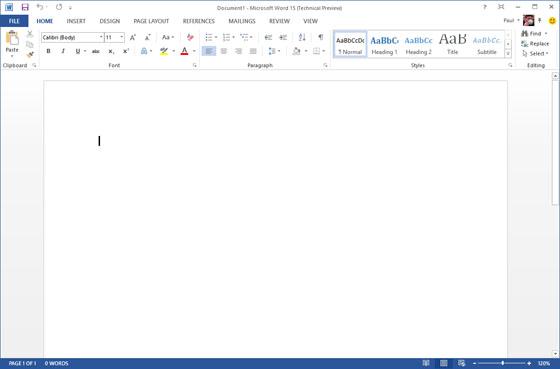 Office 15 Technical Preview засветился на скриншотах