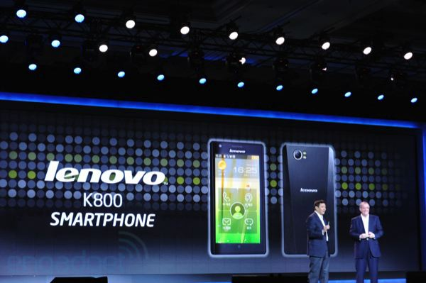 Lenovo K800 выйдет на рынок в мае