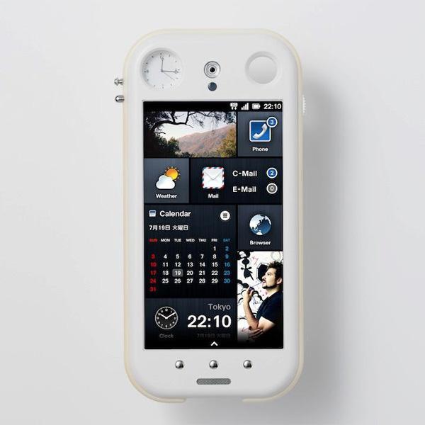 Концепт смартфона с механическими часами