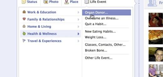 Facebook: поделись органами с друзьями