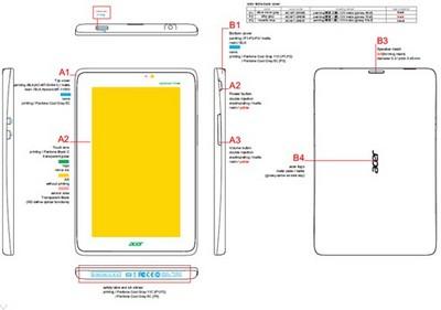 Новый Acer Iconia Tab A110 проходит сертификацию в комиссии по связи США