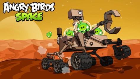 Angry Birds и марсоход Curiosity