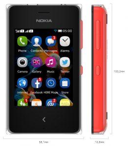 Особенности Nokia Asha 500 :