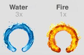 Water, а если 150% - Fire.