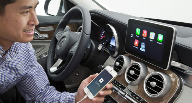 Mercedes - Benz и CarPlay - iPhone в автомобиле