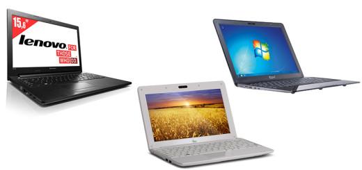 Ноутбуки Lenovo IdeaPad G500, Sprint ES1306N и iRU Intro 107