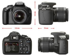 яркий представитель зеркальных фотокамер Canon EOS 1100D IS kit (18-55 mm)