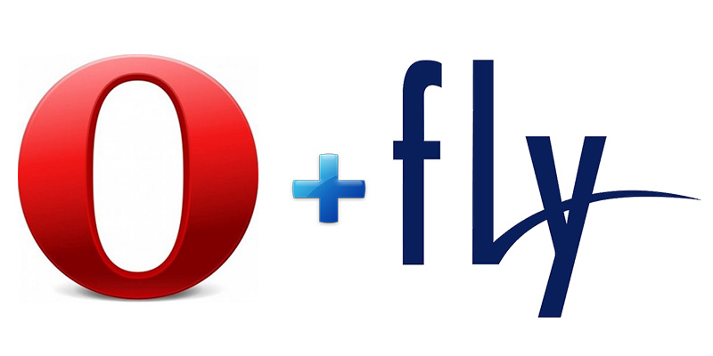 Предустанавленная Opera на смартфонах Fly