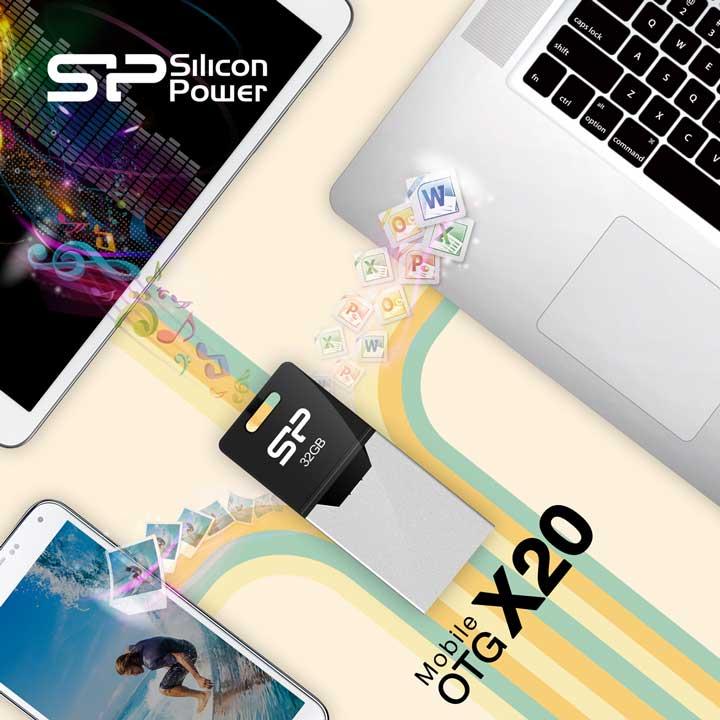 Флешка для смартфонов Silicon Power Mobile X20