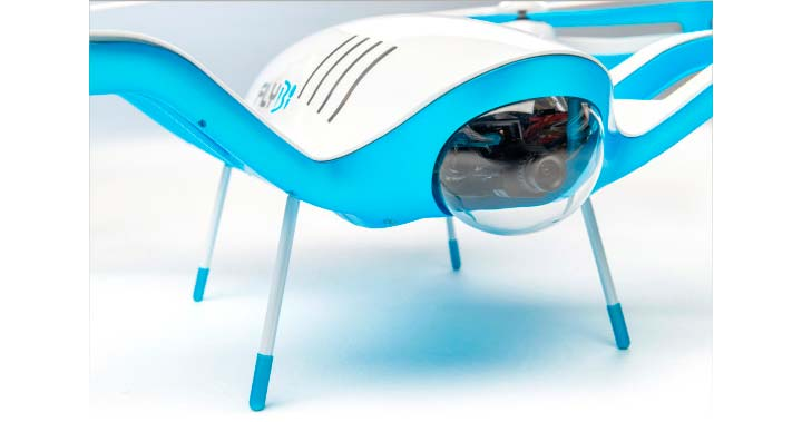 Квадрокоптер FLYBi сам себе меняет батарейки