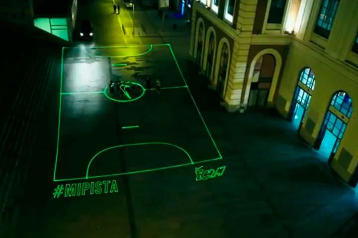 Nike создает лазерные площадки.