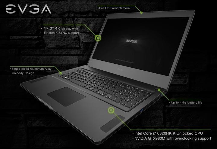Ноутбук SC17 - первый опыт EVGA на выставке CES 2016