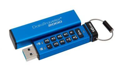 DataTraveler 2000 - накопитель с физической клавиатурой