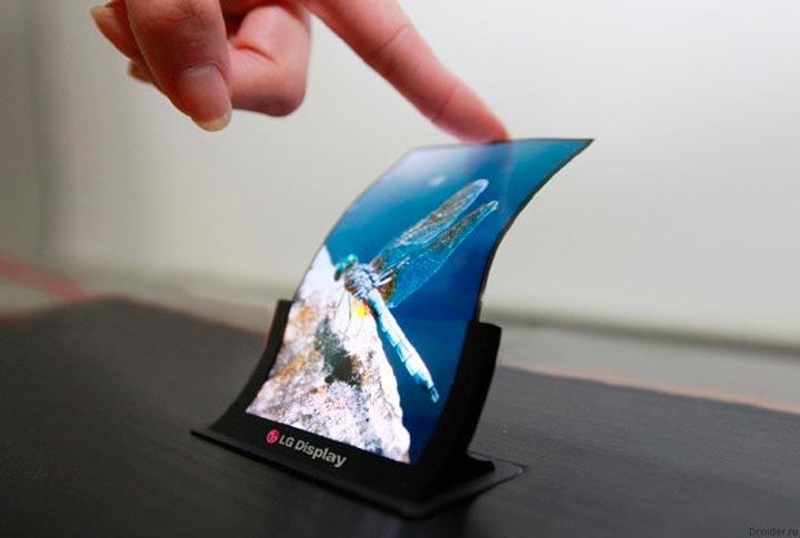 Компания LG получила патент на смартфон с гибким экраном