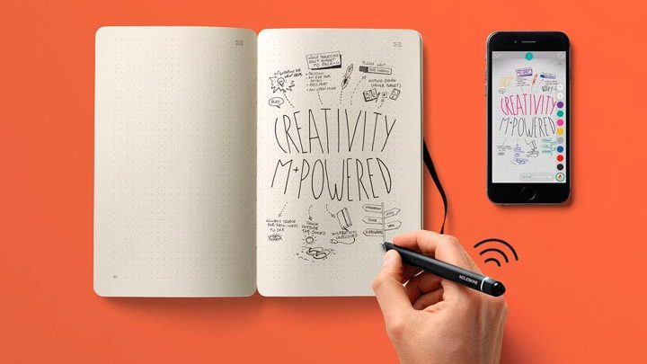 Smart Writing Set. Устройство, переносящие рукописные записи в смартфон