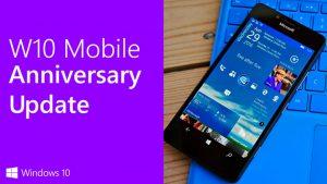 Anniversary Update для Windows 10 Mobile