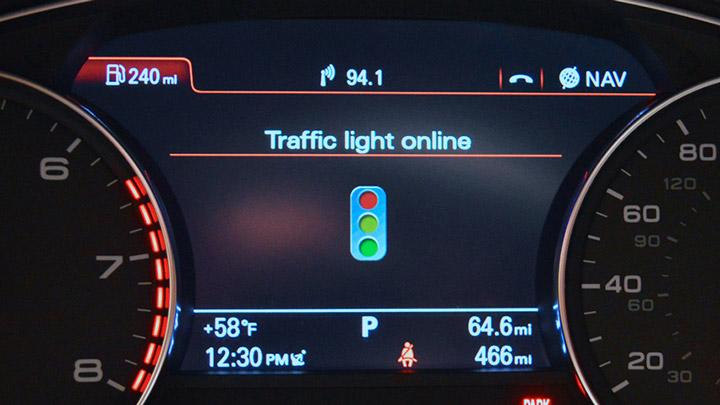 Audi сигналы светофоров