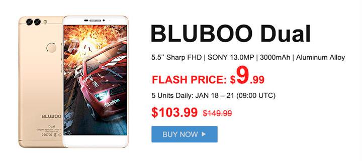 Характеристики смартфона BLUBOO Dual