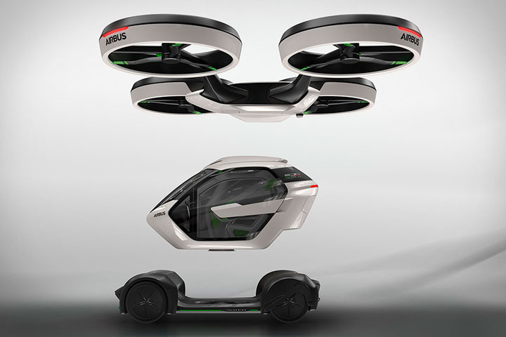 Airbus разрабатывает летающий автомобиль Pop.Up