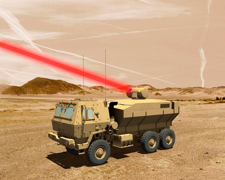 ВСША испытали боевой лазер мощностью 60 киловатт